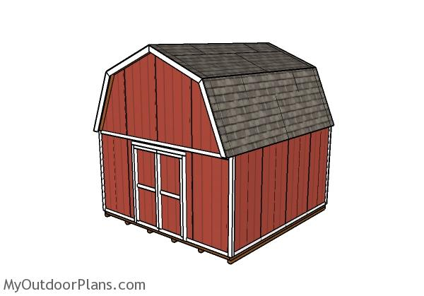 16x16 Gambrel Shed Plans