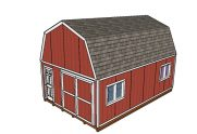16×24 Gambrel Shed Plans