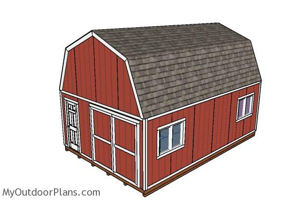 16x24 gambrel shed roof plans myoutdoorplans free for 16x24 shed plans free