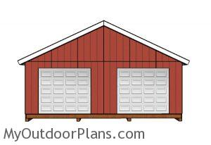 24x24 shed plans - Front view