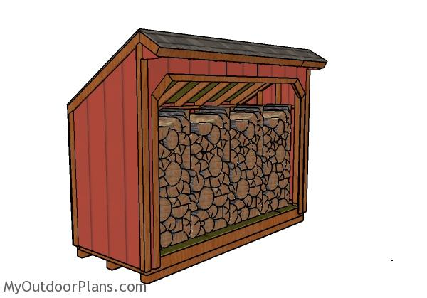 4x12 Firewood Shed Plans Free