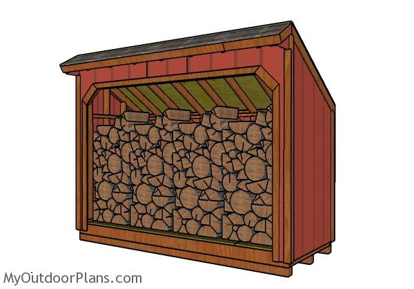 4×10 Firewood Shed Plans