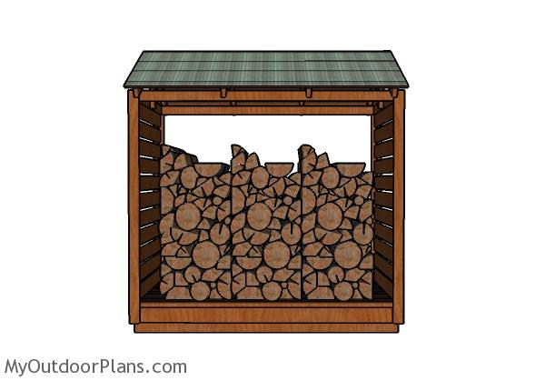 4x8 Firewood Shelter Plans