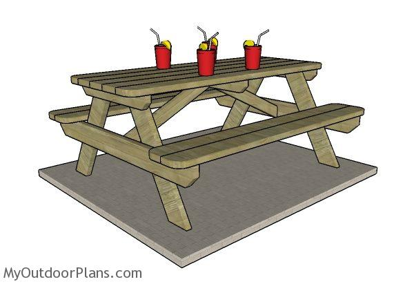6 Foot Picnic Table Plans Myoutdoorplans Free Woodworking And Projects Diy Shed Wooden Playhouse Pergola Bbq