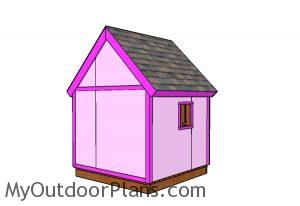 6x6 Simple Playhouse Plans - Back view 1