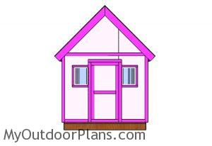 6x6 Simple Playhouse Plans - Front view