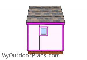 6x6 Simple Playhouse Plans - Side view