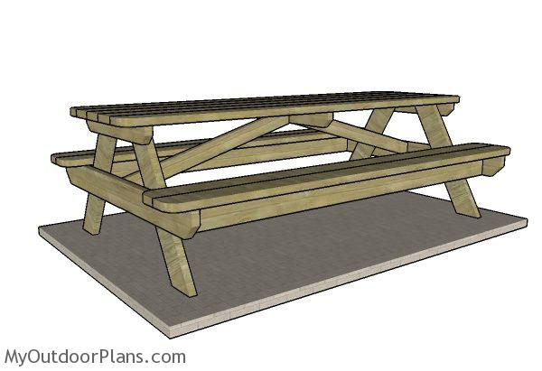 8 foot picnic table plans myoutdoorplans free