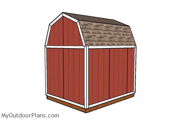 8x10 Barn shed plans