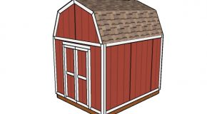 8×10 Gambrel Shed Plans