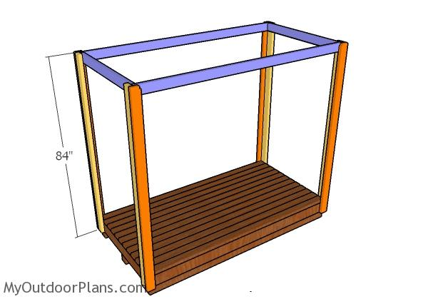 Assembling the frame of the shelter