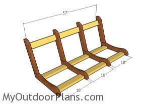 Assembling the frame of the swing