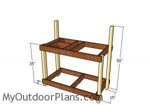 Assembling the potting bench frame