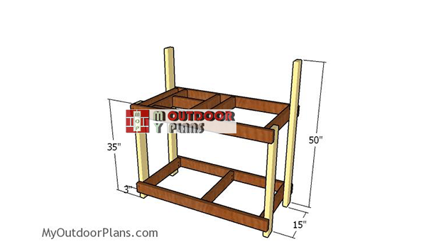 Assembling-the-potting-bench