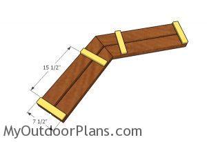 Assembling the seat slats