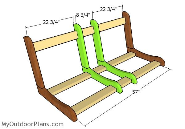 Assembling the swing frame