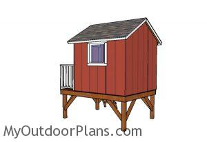 Backyard playhouse plans - Back view