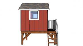Backyard Playhouse Door and Railings Plans