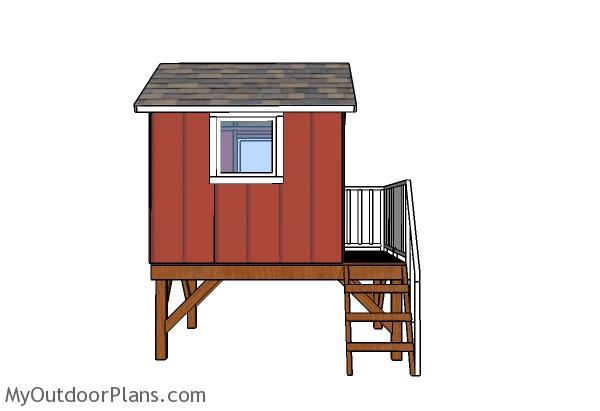 Backyard Playhouse Door and Railings Plans