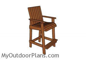 Bar height adirondack chair plans