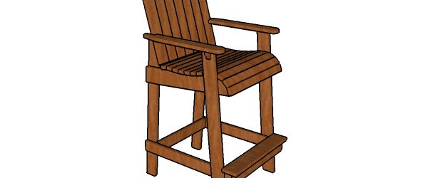 Bar height adirondack chair plans