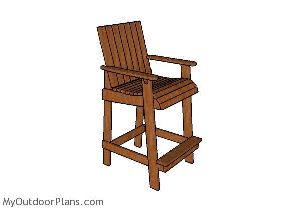 Bar Height Adirondack Chair Plans | MyOutdoorPlans | Free Woodworking Plans and Projects, DIY ...