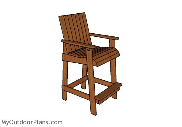 1257 Shop Stool Plans in addition Bar Height Adirondack Chair Plans in ...