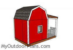 Barn Playhouse Plans - Back view