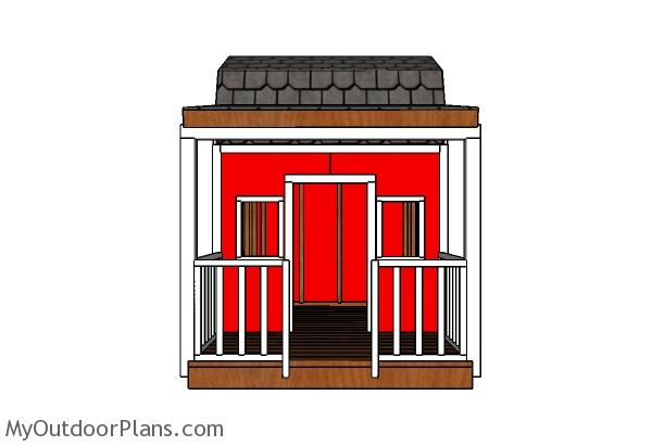 Barn Playhouse Plans - Front view