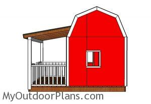 Barn Playhouse Plans - side view