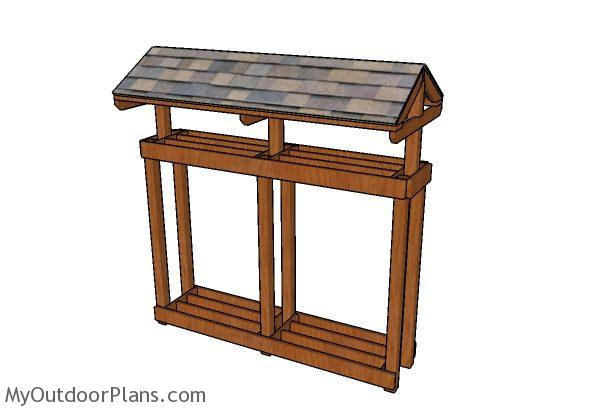Build a firewood stand with roof