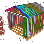10×10 Gable Shed Roof Plans
