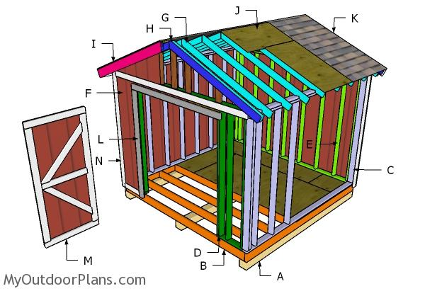 10x10 Gable Shed Roof Plans