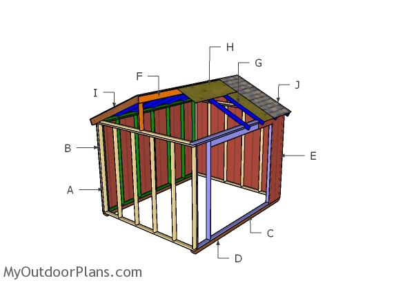 10x12 Animal Shelter Roof Plans