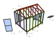 10×12 Greenhouse Door and Trims Plans