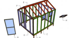 10×12 Greenhouse Door and Trims Plans