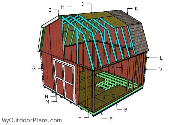 16x16 Barn Shed Roof Plans Myoutdoorplans Free