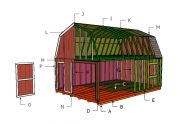16×24 Gambrel Shed Roof Plans