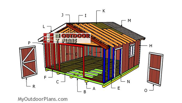 Building-a-20x20-gable-shed