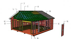 24×24 Gable Shed Roof Plans