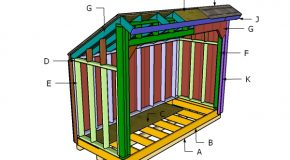 4×10 Saltbox Wod Shed Roof Plans