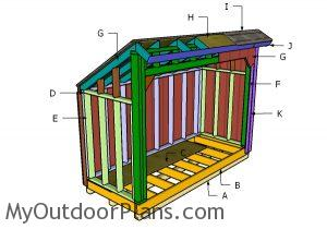 Building a 4x12 firewood shed