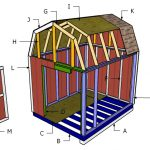 8×10 Gambrel Shed Roof Plans