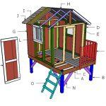 Backyard Playhouse Roof Plans