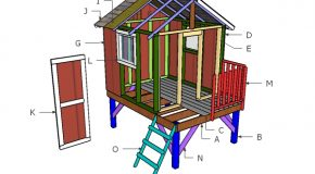 Backyard Playhouse Roof Plans