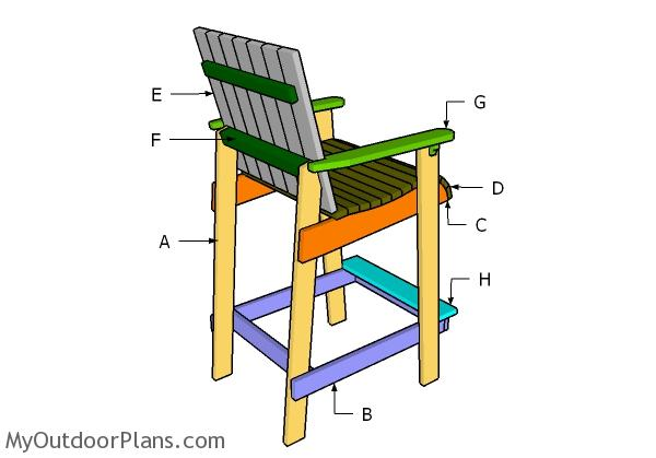 Adirondack Chair Plans | MyOutdoorPlans | Free Woodworking Plans ...