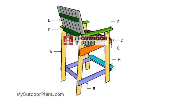 Building-a-bar-height-adirondack-chair