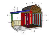 Barn Playhouse Roof Plans