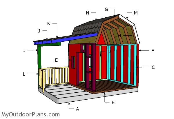 Barn Playhouse Roof Plans