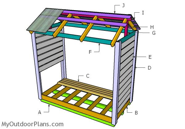 Building a firewood shelter